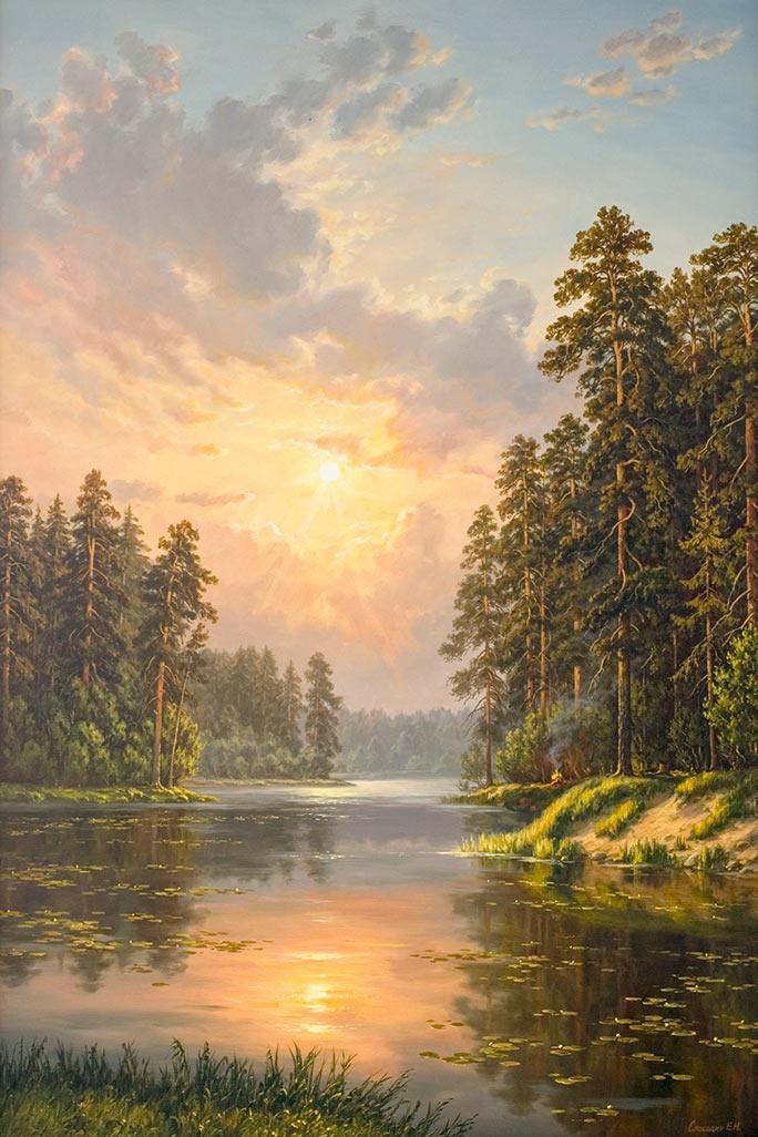 Цена : 12 800,00 руб Купить картину Закат ...: www.gallery-tver.ru/paintings/landscape-242.html