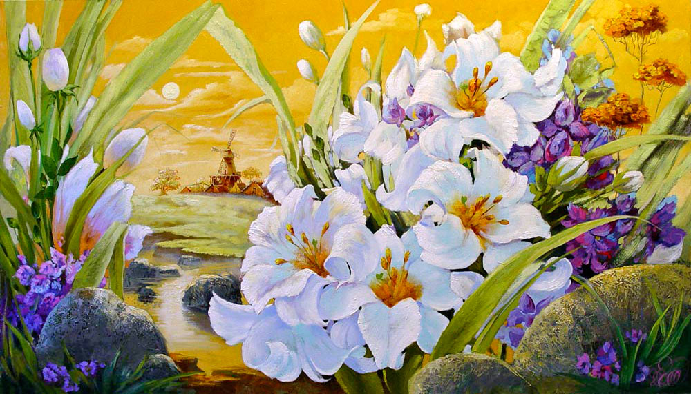 натюрморт с лилиями — картины цветов ...: www.gallery-tver.ru/paintings/naturmort-84.html